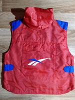 Reebok 90's Vintage Mens Tracksuit Top Jacket Sleeveless Vest Gilet Nylon Hooded