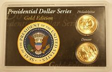 2008 P & D James Madison Presidential Gold Edition UNC Set $1 Dollar Coins