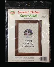 NMI Counted Thread Cross Stitch Kit Merry Country Christmas NIP