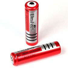 6 x Ultra Fire 4200 mAh Lithium Ionen Akku 3,7 V / von BRC Typ 18650 Li - ion