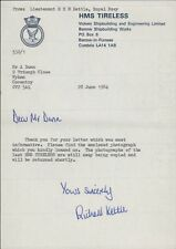 HMS TIRELESS. 1984. (Vickers)  Lieutenant  Richard Kettle. DD.116