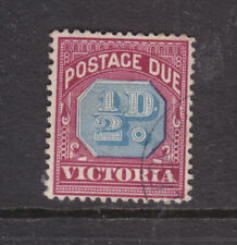 Victoria: 1/2d Postage Due Blue And Red Wmk V Over Crown Upright Scarce Cto