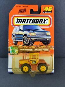 MATCHBOX TREASURE HUNT MB 2000 LOGO MERCEDES BENZ TRAC 1600 TURBO #46 Tractor
