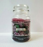 Yankee Candle Fresh Lilac Black Band 22 Oz Glass Jar Retired