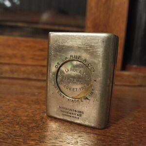 Antique travel inkwell - 100 y.o DE LA RUE cadket ink London Paris