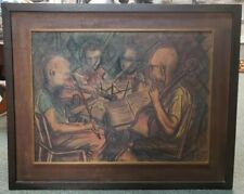 Group of Violinists Framed Giclee on Board by G. Kartson Jr. (1959)
