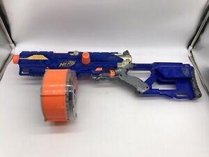 Nerf N-Strike Blue Long Strike CS-6 Sniper Rifle Main Blaster Gun & Drum Clip