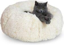 "ZENAPOKI Memory Foam Donut Pillow Cat & Small Dog Bed, Washable, 19.7"" Diameter"