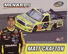 "2012 Matt Crafton Ideal Door ""2nd issued"" Toyota Tundra NASCAR postcard"