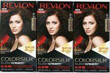 (3) Revlon 50 / 41N Medium Natural Brown Vivid Hair Color Colorsilk Buttercream