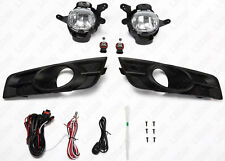 For 2011-2014 Chevrolet Cruze CLEAR Driving Fog Lights Set w/ Switch Bulbs Bezel