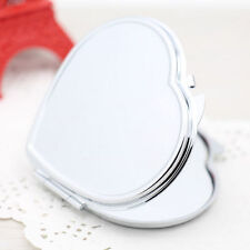 Miroir de maquillage en forme de poche à double coeur