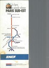 CARTOGRAPHIE SNCF - LA LIGNE A GRANDE VITESSE PARIS SUD-EST