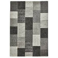 Patches New Hand Carved Rugs Silver, Grey & Charcoal 120 x 170cm
