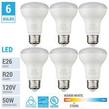 Pack BR20 Flood Light Bulbs LED 7W 50W E26 Medium Base 2700K Warm White Dimmable
