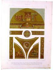 Stampa antica Basilica San Marco Mosaici VENEZIA 1920 Old antique print VENICE