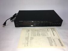 Kenwood KT-87 12w Home AM/FM Quartz Tuner Audio Stereo  TESTED