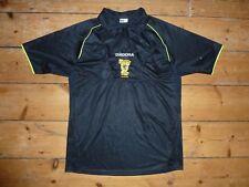 Match Worn + grandes Escocia árbitro Camiseta De Fútbol Negro SFA Jersey con bolsillos