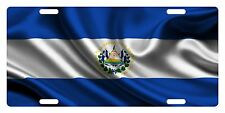 EL SALVADOR Flag Custom License Plate Salvadoran Emblem Wave Version # 1