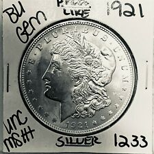 1921 BU GEM MORGAN SILVER DOLLAR UNC MS++ GENUINE U.S. MINT RARE COIN 1233