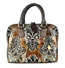Brahmin Vivian Espresso Fresco Tote Brown Damask Floral Handbag