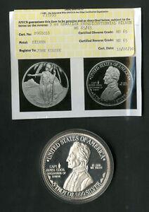 US Coin 1926 Large 5oz Silver Hawaiian Sesquicentennial COA NO RESERVE!