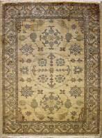 Rugstc 4x6 Senneh Chobi Ziegler White Area Rug,Natural dye, Hand-Knotted,Wool