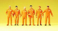 Preiser 68212 Monteure (orange) ; 1:50 Figuren