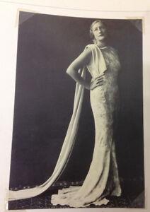 RIPRODUZIONE FOTO ALINARI SIGNORA IN ABITO DA SERA 12X18 cm FINE ANNI '30 (5)