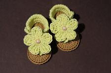 NEWBORN Crochet Baby Girl Heart Sandals baby's booties baby shoes handmade 0-12