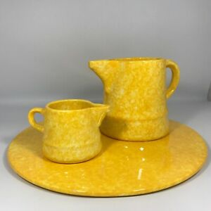 Rare Vintage Stangl Yellow Caughley 3 Piece set made exclusively 4 Tiffany & CO