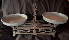 ANTIQUE CAST IRON 3KG BALANCE SCALE With Original Pans