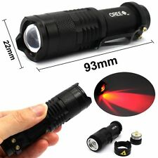 Zoomable 5-Mode 600LM Mini CREE XM-T6 SK68 LED Flashlight Torch Red Light
