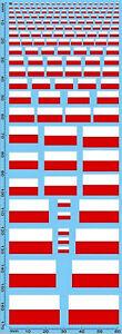 Drapeaux Pologne 1:24 Autocollant Décalcomanie