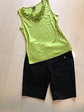 Women's 3 Pc Outfit: Nwt (L) Top; 12 Michael Kors Shorts. Nwot Necklace. Euc!
