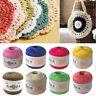 50g Silk Thread Yarn Hand Knit Lace Cotton Crochet Trim DIY Shawl Scarf Craft