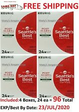 Seattle's Best Coffee Post Alley Blend Dark Roast K Cups 96 Count EXP JUL/2020