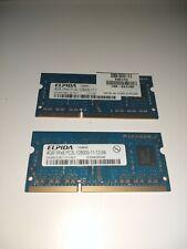 Elpida 8GB Total Laptop Memory (quantity: 2x4GB sticks) 1Rx8 PC3L 12800-11-12-B4