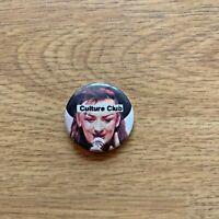 Culture Club Pin Back Vintage Button Boy George 80's Music Pop Karma Hurt Me HTF