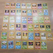 Base Set Commons/Uncommons Complete Set (23-62) Pokemon Card, Bundle, Rare, 1999