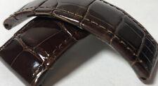 27mm de GRISOGONO Genuine ALLIGATOR Leather Bracelet Strap Band 85/85 BROWN £399