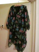 Brown & Multicoloured Floral Urban Behaviour Dress in Size 12