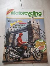 Motorcycling.  June 1976