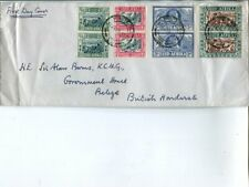 South Africa FDC 14.12.1938, sent to British Honduras