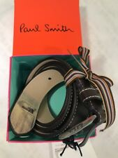 Paul Smith Men Belt 100% Leather Mini Made In Spain Chocolate 32' /82 With Box