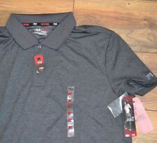 Fila Sport FItted Performance Gray Polo Golf Shirt Short Sleeve Wicking Shirt