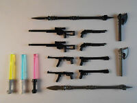 Guns for Lego Minifigures. Lot of 15. New!! Sniper Rifle Weapons lightsabers toy