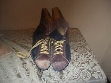 Vintage / Antique Leather Hockey Skates S+S+S Made in Japan