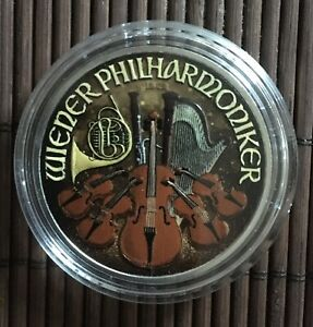 1 Unze Silber Philharmoniker 2019 Color