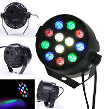 12W 8 Channel RGB Led Flat Par Light for Club DJ Party Stage Laser Projector New